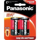 Panasonic Heavy Duty C / LR14 Carbon Zinc Battery 2pk