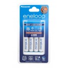 "Eneloop ""Quick"" AA/AAA Battery Charger + 4 AA Batteries"