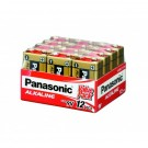 Panasonic 9V / 6LR61 Alkaline Battery 12 Pack
