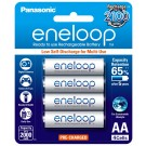 4 x Eneloop Ni–MH Rechargeable AA Batteries